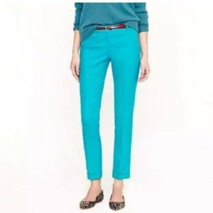J Crew S 4 6 Turquoise Blue Wool Cafe Capri Ankle